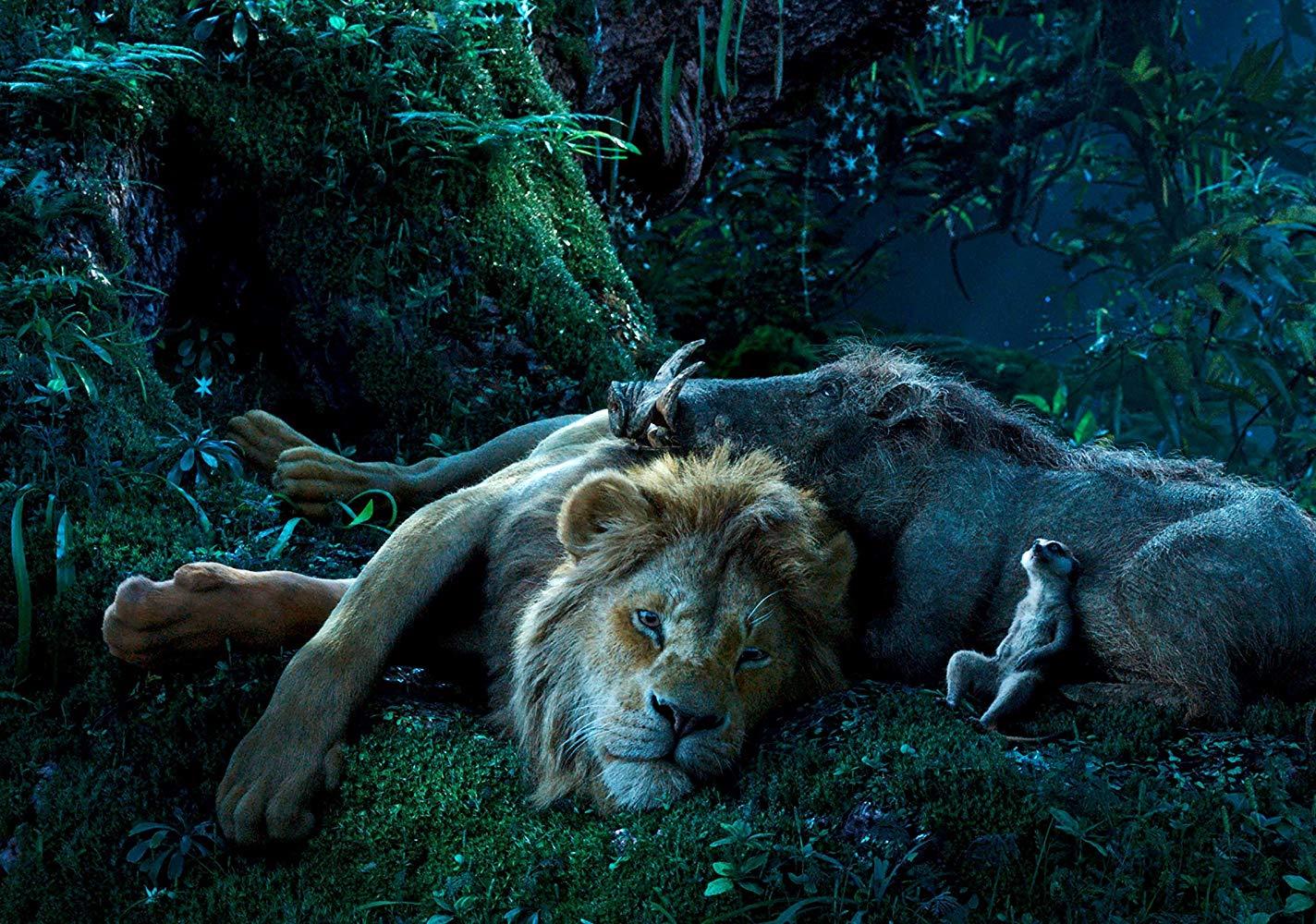 Donald Glover als Simba, Seth Rogen als Pumbaa und Billy Eichner als Timon