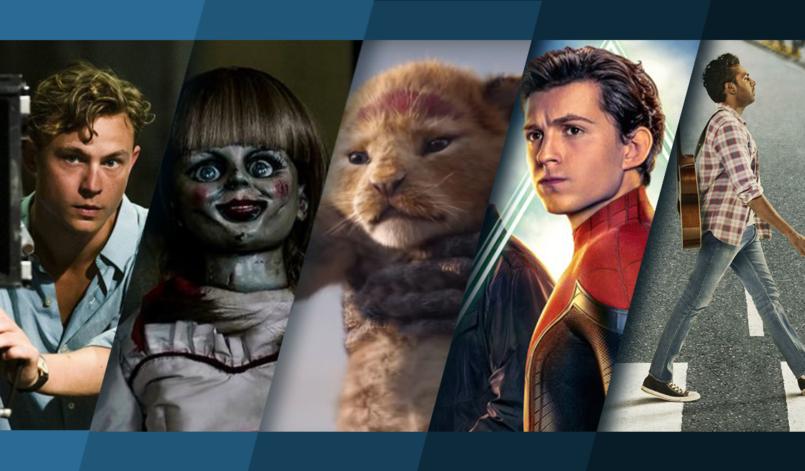 Titelbild für Top 5 Kinostarts Juli 2019 mit Traumfabrik, Annabelle 3, König der Löwen, Spider Man Far From Home und Yesterday