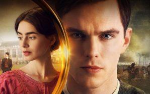 Poster für Kritik Tolkien 2019 mit Nicholas Hoult als J.R.R. Tolkien und Lily Collins als Edith Bratt