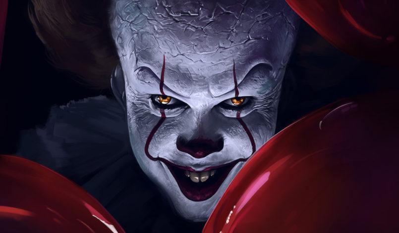 Titelbild für Kritik Es Kapitel 2 mit Clown Pennywise und roten Luftballons