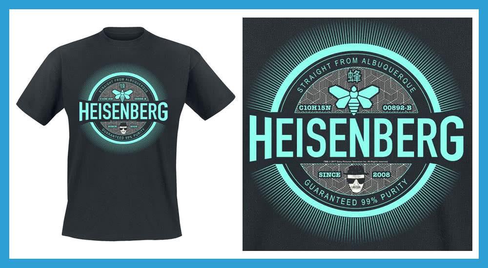 Heisenberg Marken Emblem T-Shirt auf EMP zum Film El Camino