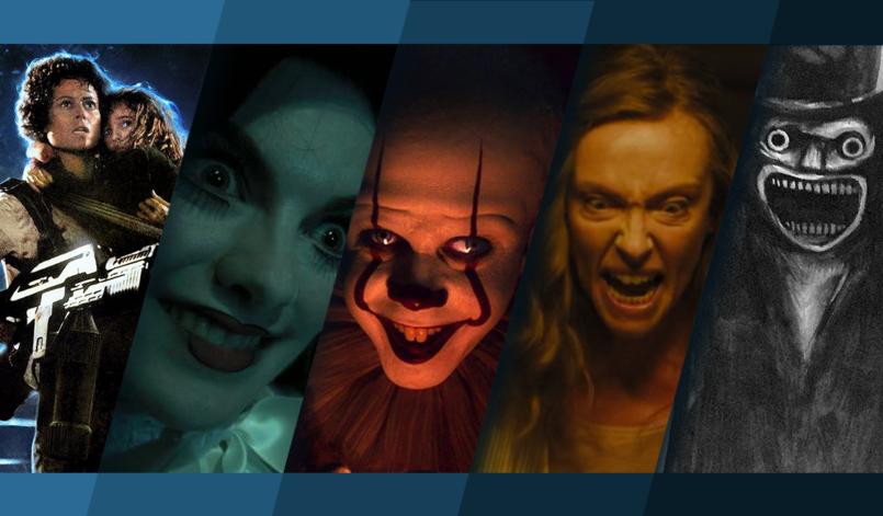 Titelbild für Podcast Horrorfilme die uns das Fürchten gelehrt haben mit Alien 2, Insidious, Es, Hereditary und Der Babadook