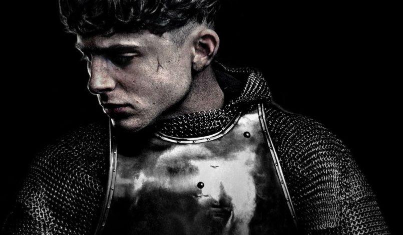 Timothée Chalamet in einem Poster für Kritik The King auf Netflix