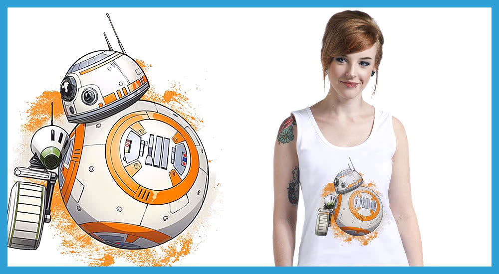Star Wars Merchandise BB-8 und D-O T Shirt