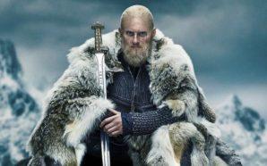 Alexander Ludwig als Ubbe Ragnarsson in einem Poster für Vikings Staffel 6 Teil 1