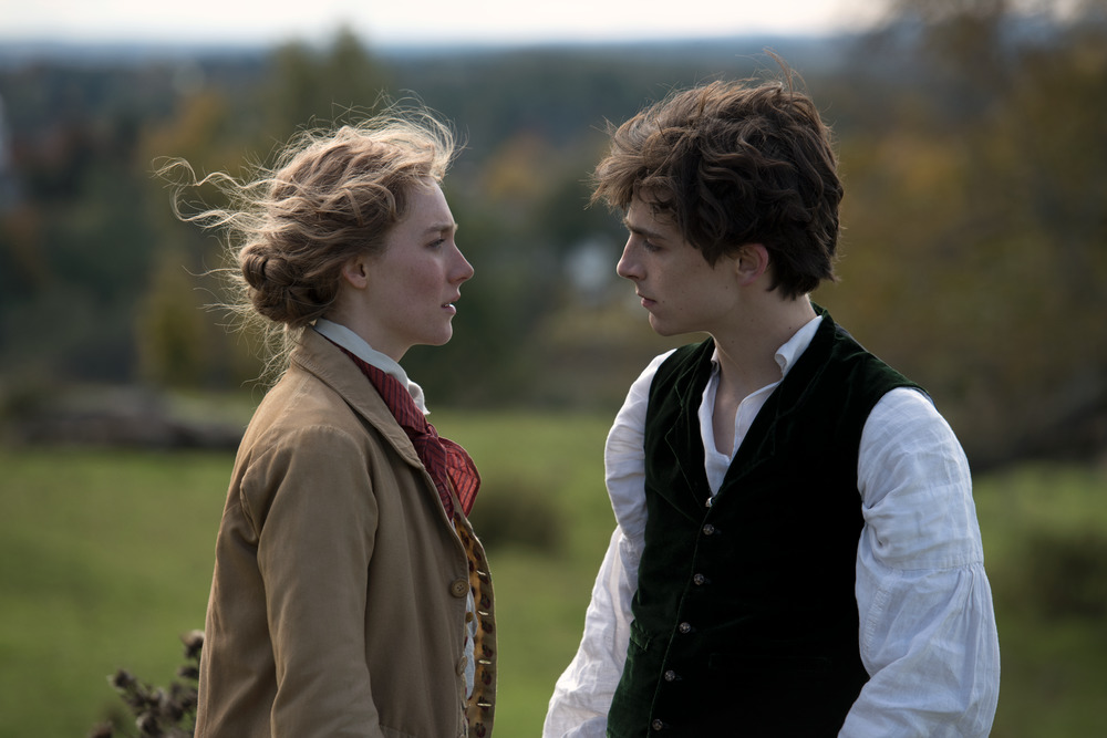 Saoirse Ronan und Timothée Chalamet in Little Women