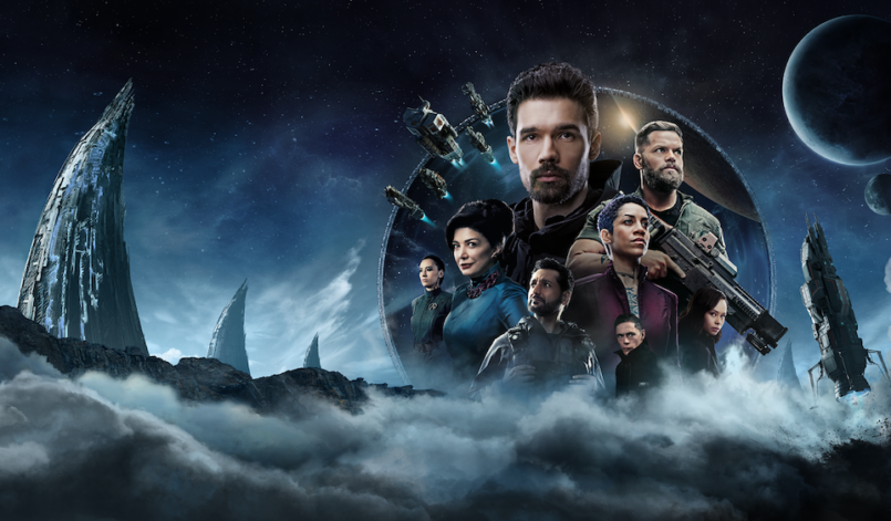 Poster für Kritik The Expanse Staffel 4 von Amazon Prime Video mit Steven Strait, Dominique Tipper, Cas Anvar, Shohreh Aghdashloo, Burn Gorman und Wes Chatham