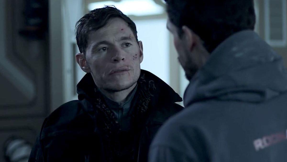 Burn Gorman als Adolphus Murtry in einem Szenenbild für Kritik The Expanse Staffel 4