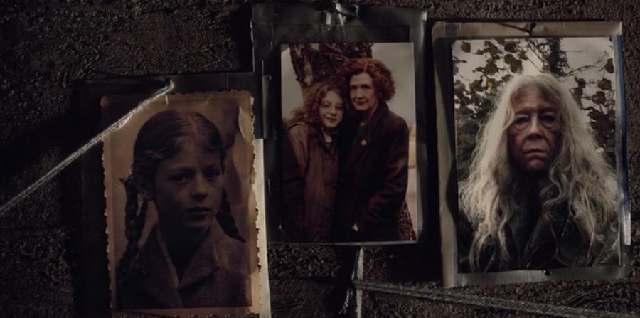 Bilder von Claudia Tiedemann in verschiedenen Zeitebenen aus einem Szenenbild aus Dark Staffel 2
