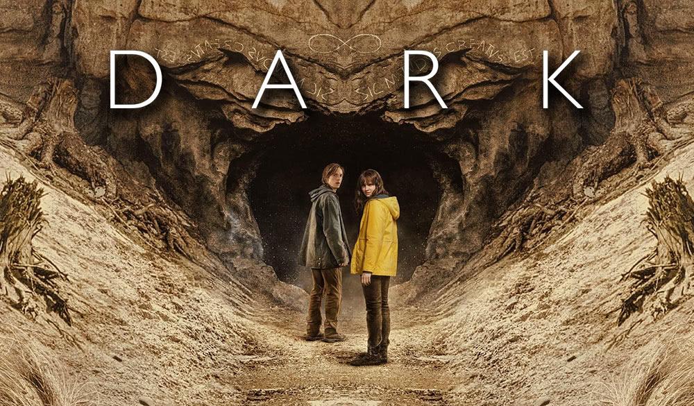 Dark Staffel 3 Wallpaper vor Einhorn Höhle mit Jonas und Martha