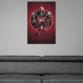 Poster Black Widow Film 2020 in Wohnzimmer von Emp