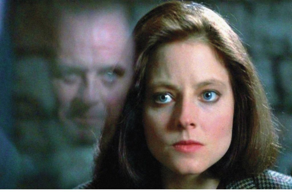 Jodie Foster und Sir Anthony Hopkins in Das Schweigen der Lämmer