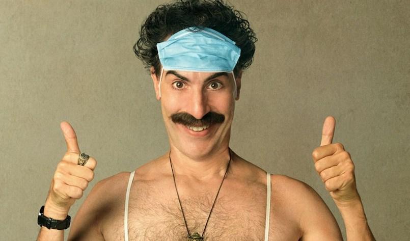 Borat Anschluss Movie-Film Plakat mit Sacha Baron Cohen