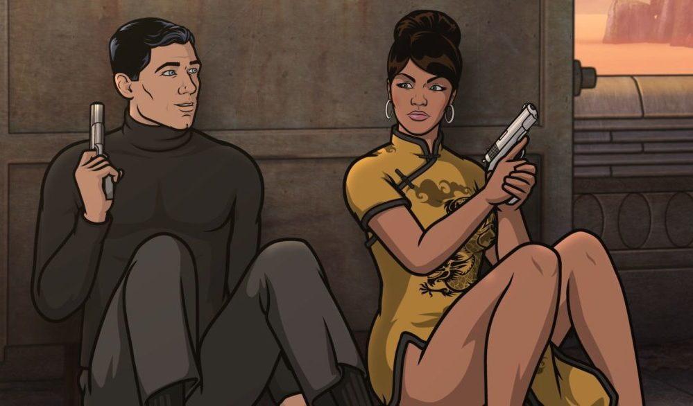 Archer (H. Jon Benjamin) und Lana (Aisha Tyler) nehmen Deckung ein