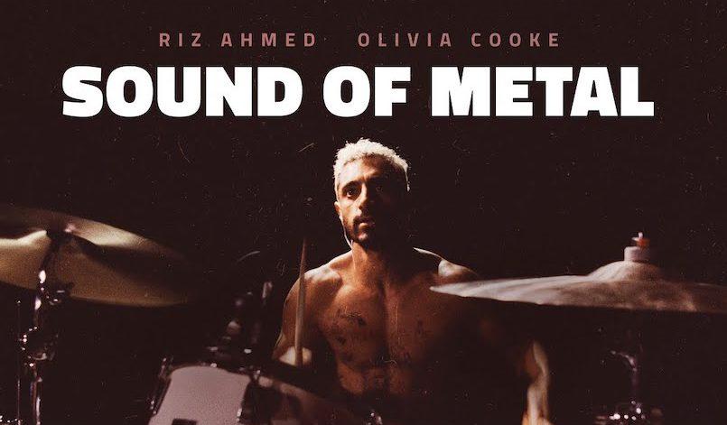Riz Ahmed als Schlagzeuger auf Poster für Kritik Sound of Metal