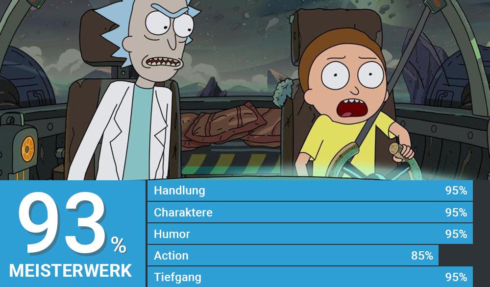 Morty steuert Ricks Raumschiff