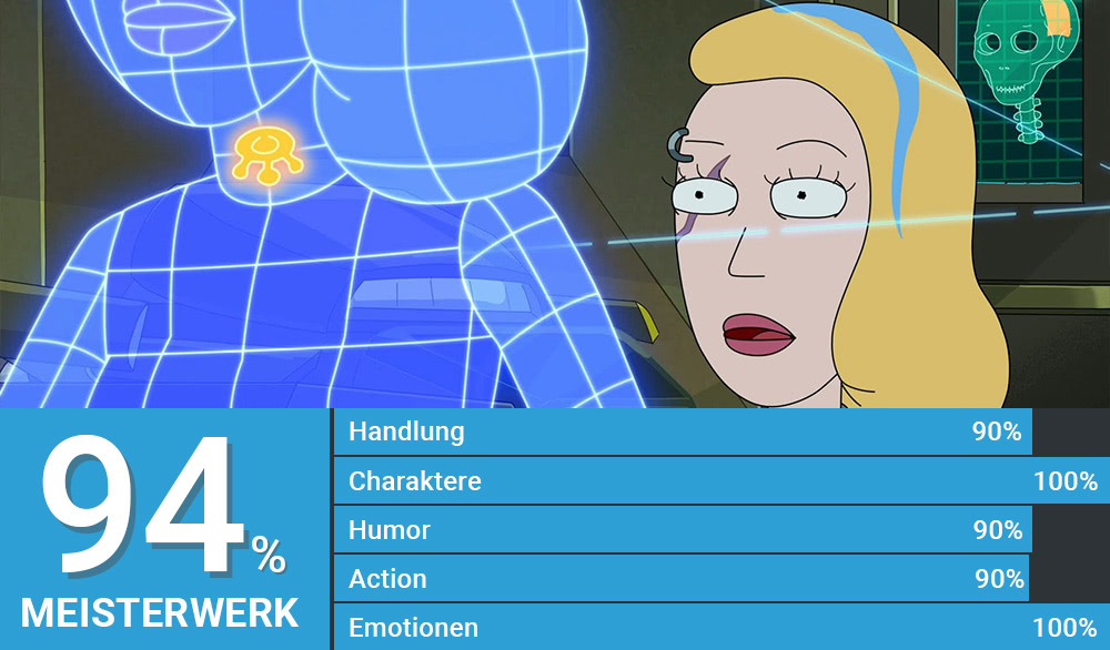 Weltraum-Beth sieht eine holografische Version von ihr
