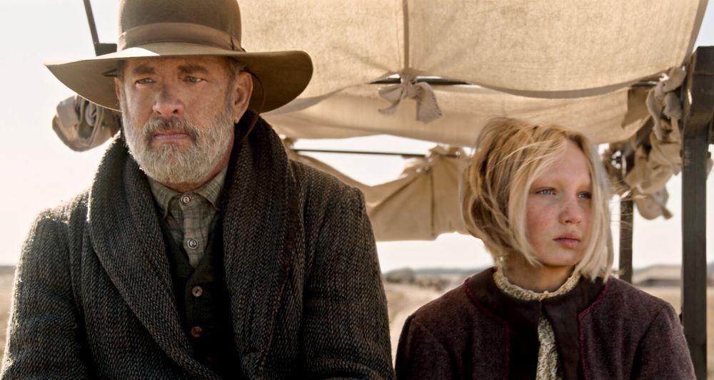 Tom Hanks und Helena Zengel in einem Szenenbild für Neues aus der Welt