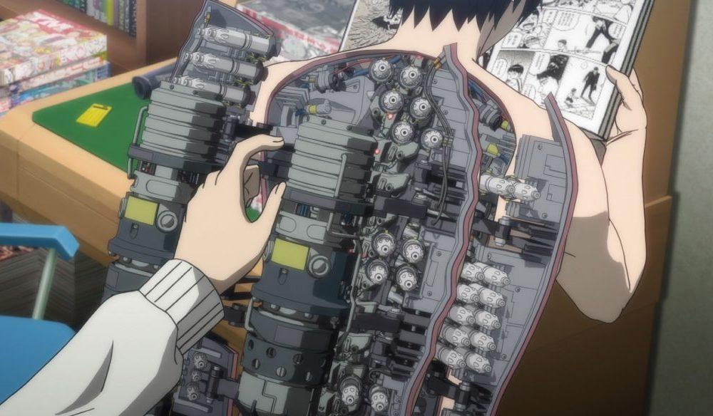 Das Innere von Hiros Rücken ist eine Maschine