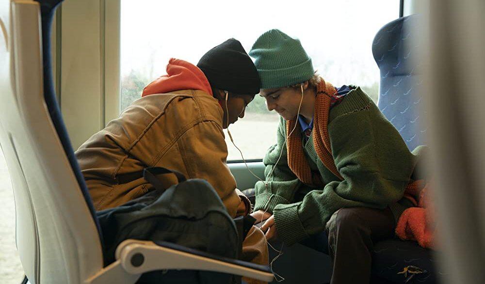 Fraser und Harper im Zug