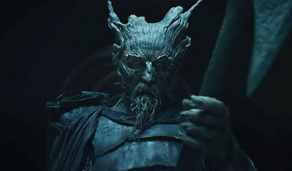 Der Grüne Ritter in einem Szenenbild für Kritik The Green Knight