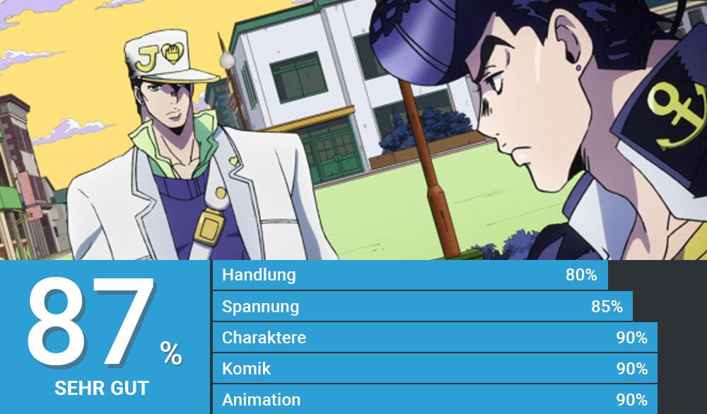 "Josuke begegnet seinem Neffen Jotaro in ""Jojo's Bizarre Adventure: Diamond is Unbreakable"""