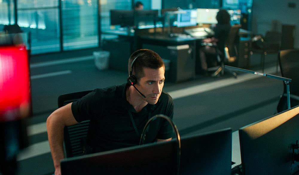Jake Gyllenhaal als Joe Baylor in The Guilty.